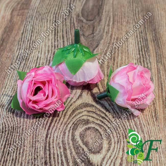 Головка розы D3 малиновый за 5 штук