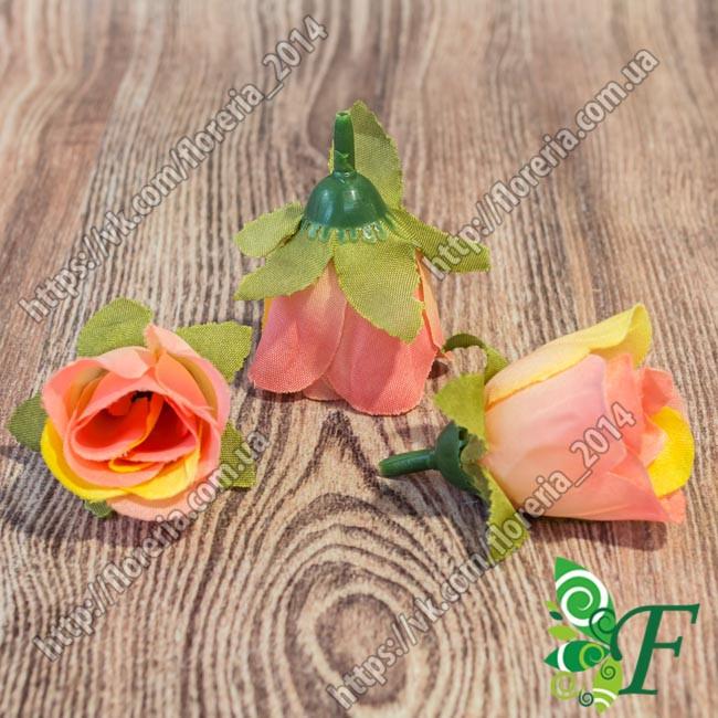 Бутон розы лососевый за 5 штук