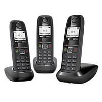 Комплект з 3-х бездротових DECT телефонів Gigaset As405 Trio