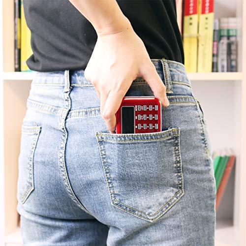 Мини радиоприемник PRUNUS L-218AM FM/AM, MP3, MicroSD, USB, фонарик, красный