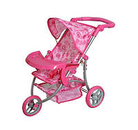Дитяча триколісна коляска для ляльок MELOGO 9377