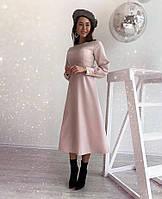 Платье женское креп-костюмка  руд259, фото 1