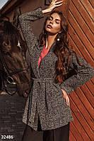 Твидовое классическое пальто