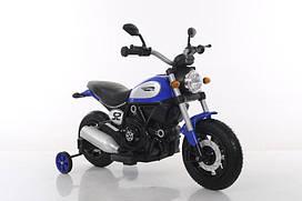 Эл-мобиль T-7226 AIR WHEEL BLUE мотоцикл 6V7AH мотор 2*15W с MP3 107*53*72 /1/