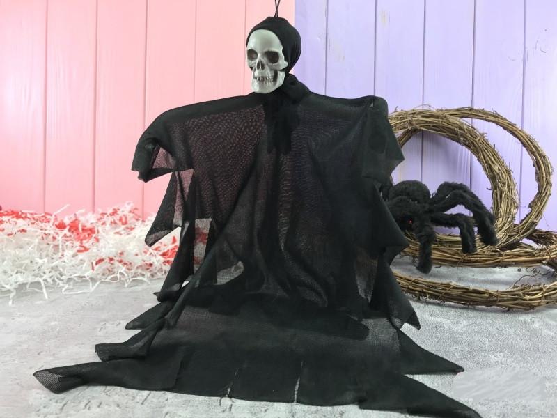 Подвесная кукла Череп черная 30 см