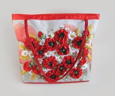 Набор для творчества My creative bag Сумка, вышитая лентами и бисером Маки