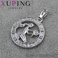 Знак Зодиака Дева Xuping медицинское золото Silver - 1021940500