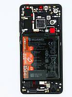 Дисплей Huawei P30 2019 (ELE-L29), Black | с сенсорным экраном (тачскрин), рамой, батареей и сканером отпечатка пальца  , оригинал