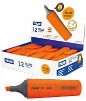 """Текстовыделитель флуорисцентный 80038 """"Fluo"""" оранжевый, клиновидный кончик 1-4,8мм Milan уп12"""