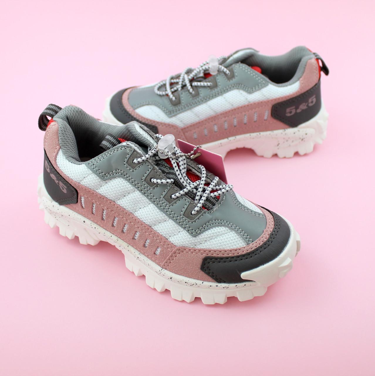 Детские кроссовки для девочки Пудра/серый обувь Bi&Ki размер 28,29,32,33,34,35
