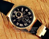 Мужские наручные часы Ulysse Nardin Maxi Marine Chronometer копия Black Gold механика