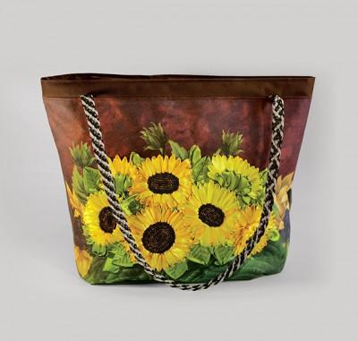 Набор для творчества My creative bag Сумка, вышитая лентами и бисером Подсолнухи