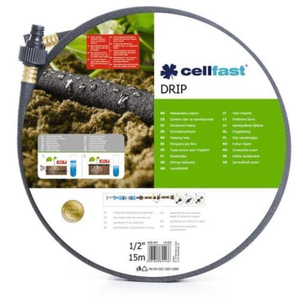Шланг для полива Cellfast Drip 1/2' 15 м (19-002), Польша