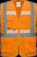 Жилет Executive Glowtex с застежкой-молнией Ezee  G456