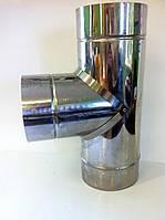 Тройник Ø180 из оцинкованной стали 0,8 мм