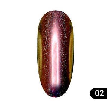 Втирка для нігтів Global Fashion Pea Cock Powder 02