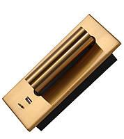 Світильник настінний WL-008 LED 2W 2700К 230В USB латунь, фото 2