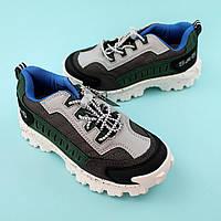 Детские кроссовки для мальчика Серые/зеленые обувь Bi&Ki размер 28,29,30,31,32,33,34,35