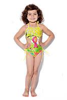 Купальник-монокини детский, от ТМ Grand Trend, с принтом-картинкой Маши из мультсериала, на завязках