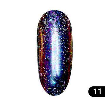 Втирка для нігтів Global Fashion, Starlight Chameleon Powder 11 K155