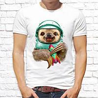 Мужская футболка Push IT с принтом Ленивец