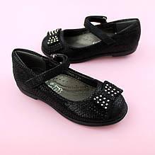 Детские туфли для девочки Черные Бант обувь Том.м размер 28,29,32,33,34,35