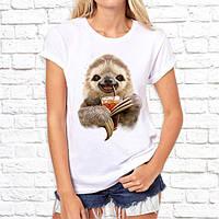 Женская футболка Push IT с принтом Ленивец