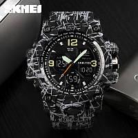 Skmei 1155 B hamlet  черные с серым мужские спортивные часы, фото 1