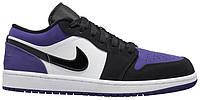 Мужские кроссовки Nike Air Jordan 1 Low Court Purple (найк аир джордан 1 ретро, фиолетовые)