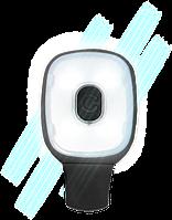 Перезаряжаемый от USB фонарь-зажим HV12