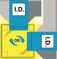 Двойной ID держатель - пришиваемый ID20