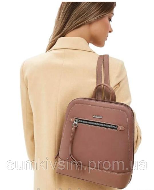 Рюкзак женский темно-розового цвета DAVID JONES 6111