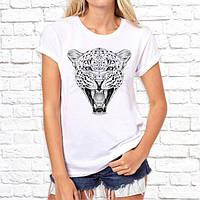Женская футболка Push IT с принтом Леопард серый