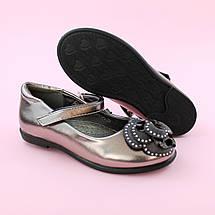 Дитячі туфлі для дівчинки Срібло взуття Тому.м розмір 28,35, фото 3