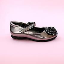 Дитячі туфлі для дівчинки Срібло взуття Тому.м розмір 28,35, фото 2