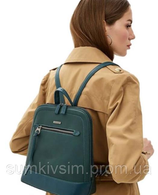 Рюкзак женский зеленого цвета DAVID JONES 6111