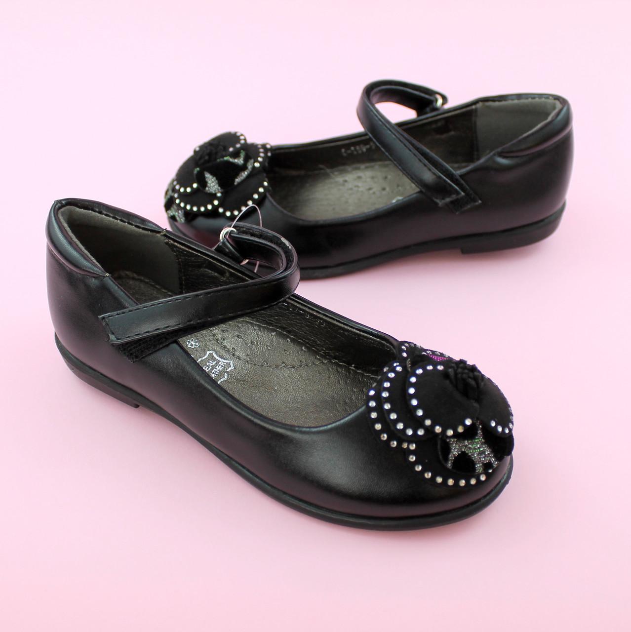 Детские туфли для девочки Черные обувь Том.м размер 28,29,30,32,33,34,35
