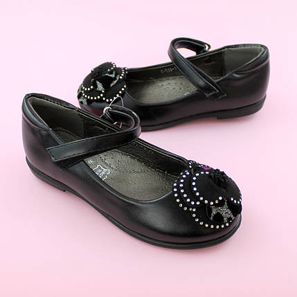 Детские туфли для девочки Черные обувь Том.м размер 28,29,30,32,33,34,35, фото 2