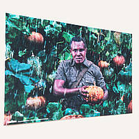 Фотокартина на холсте с изображением заказчика (60х90см)