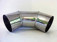 Колено 90° 0,8 мм из нержавейки Ø155 (одностенное)