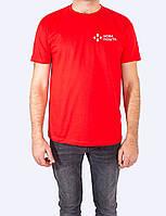 Мужская футболка JHK REGULAR T-SHIRT красная с логотипом Новая Почта