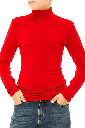 Водолазка  024 подростковый  красный, фото 2