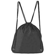 Рюкзак-котомка Wallaby 35х38х1 чёрный для обуви и сменки ткань нейлон  в 28271ч, фото 3