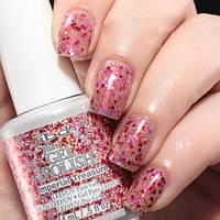 Гель-лак IBD Just Gel Polish Imperial Treasure, красные и розовые блестки