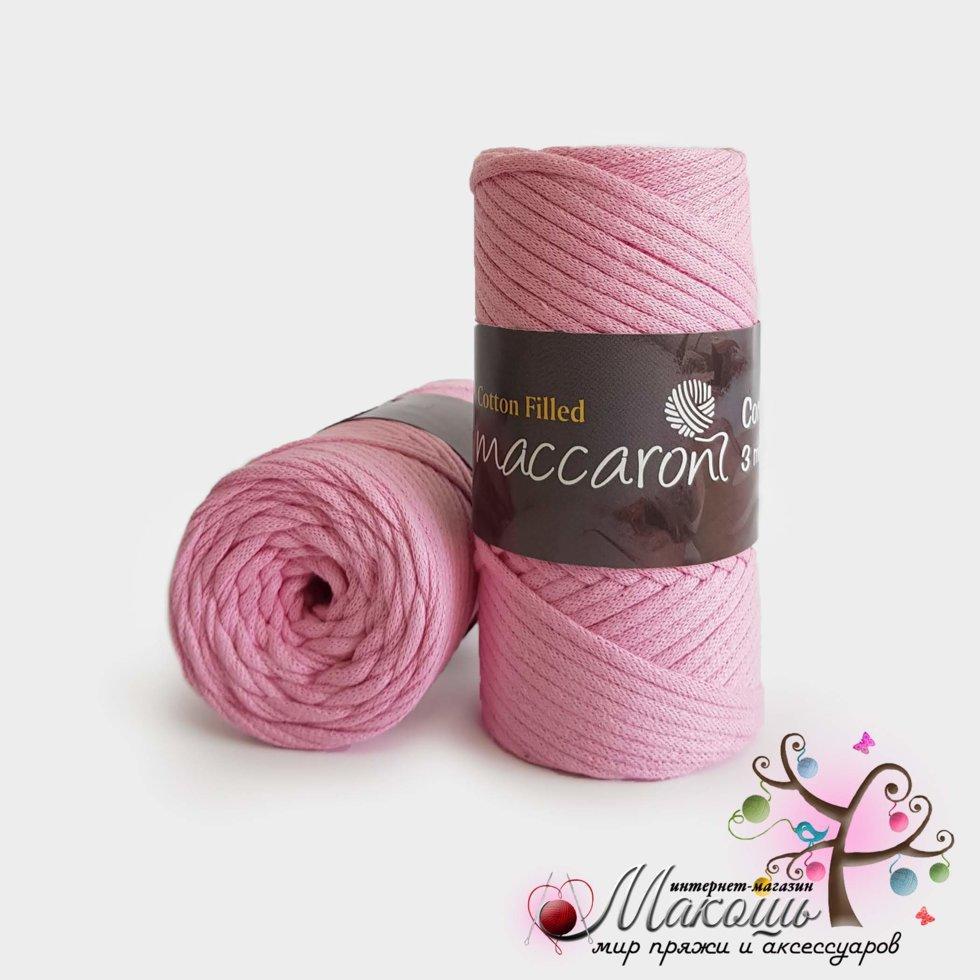 Хлопковый шнур Maccaroni Cotton Filled 3 мм, №644, св. розовый