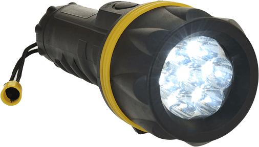Резиновый фонарь с 7 светодиодами PA60