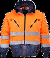 Светоотражающая куртка-пилот 3-в-1 PJ50