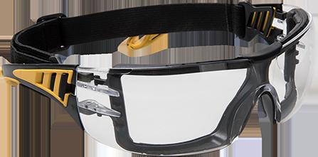 Защитные очки Impervious Tech PS09 Прозрачный/чёрно-желтый