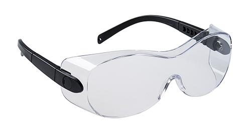 Очки для ношения поверх корректирующих очков Portwest PS30 Прозрачный/черный