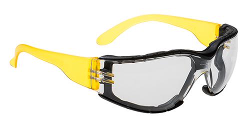 Очки огибающей формы с обтюратором Portwest PS32 Прозрачная линза